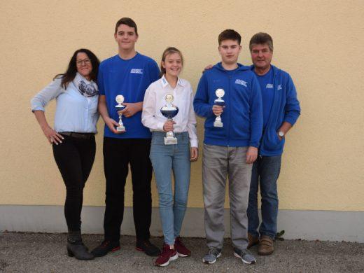 Siegerehrung im Kart-Slalom Schwabenpokal 2018