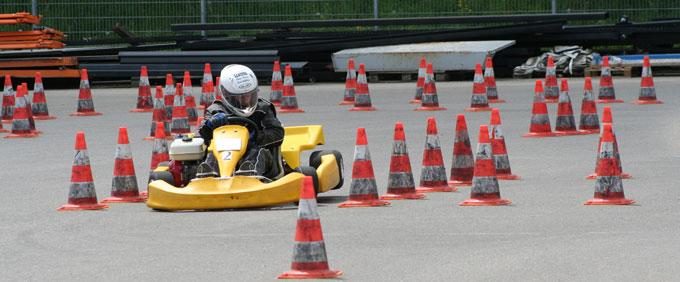Kart-Slalom