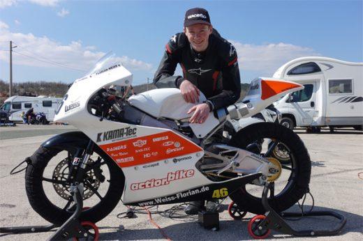 Florian Weiß startet in Rijeka in die Moto3 Saison